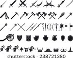 medieval weapons | Shutterstock .eps vector #238721380