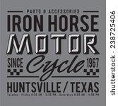 motor iron  horse  sport... | Shutterstock .eps vector #238725406