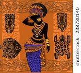 beautiful black woman.african...   Shutterstock .eps vector #238730140