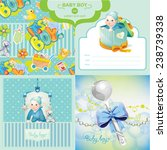 baby boy set | Shutterstock .eps vector #238739338
