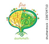 stylized summer tree  the... | Shutterstock .eps vector #238739710