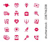 valentine's day flat icons | Shutterstock .eps vector #238746208