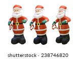 Inflatable Santa Claus Isolated ...