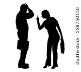 vector silhouette of couple on... | Shutterstock .eps vector #238750150