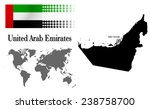 uae info graphic with flag  ... | Shutterstock .eps vector #238758700