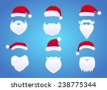 santa hats  moustache and... | Shutterstock .eps vector #238775344
