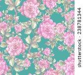 roses seamless pattern. | Shutterstock . vector #238781344