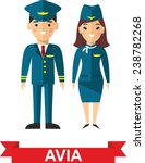 set of people aviation  pilot... | Shutterstock .eps vector #238782268
