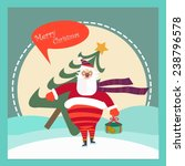 merry christmas and happy new... | Shutterstock .eps vector #238796578