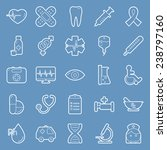 medical thin lines icons set...   Shutterstock .eps vector #238797160