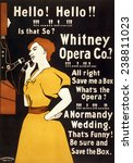 whitney opera co. poster. color ... | Shutterstock . vector #238811023