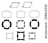 black hand drawn borders set ...   Shutterstock .eps vector #238812550