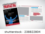 magazine layout. vector  | Shutterstock .eps vector #238822804