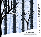 vector winter background or... | Shutterstock .eps vector #238823320
