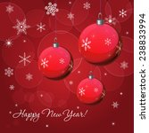 christmas   new year vector...   Shutterstock .eps vector #238833994