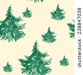 seamless christmas pattern with ... | Shutterstock .eps vector #238847038