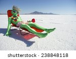 funny drunk green alien tourist ... | Shutterstock . vector #238848118
