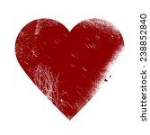 valentine heart   grunge vector ... | Shutterstock .eps vector #238852840