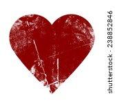 valentine heart   grunge vector ... | Shutterstock .eps vector #238852846