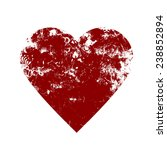 valentine heart   grunge vector ... | Shutterstock .eps vector #238852894