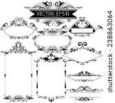vecter vintage frames and... | Shutterstock .eps vector #238863064