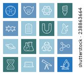 science flat icons set vector... | Shutterstock .eps vector #238863664