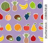 fruit seamless pattern. flat... | Shutterstock .eps vector #238865818