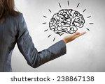 rear view of businesswoman... | Shutterstock . vector #238867138