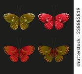 vector set of colorful... | Shutterstock .eps vector #238882819