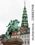 Small photo of Statue of Absalon on Hojbro square in Copenhagen, Denmark