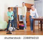 happy family of three with...   Shutterstock . vector #238896010
