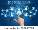 sign up concept with hand... | Shutterstock . vector #238897834
