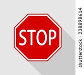 octagon red stop road sign with ... | Shutterstock .eps vector #238898614