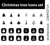 christmas tree vector icons set | Shutterstock .eps vector #238903714