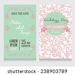 beautiful floral wedding... | Shutterstock .eps vector #238903789
