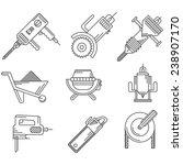 black outline icons for... | Shutterstock . vector #238907170