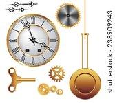 Parts Of Clock Mechanism...