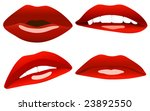 beautiful sexy lips vector...   Shutterstock .eps vector #23892550