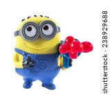 Small photo of Amman, Jordan - November 1, 2014: Minion Stuart Blaster toy figure. There are plastic toy sold as part of the McDonald's Happy meals.