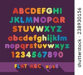 merry pastel flat alphabet. eps8 | Shutterstock .eps vector #238930156
