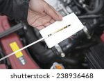checking motor oil level | Shutterstock . vector #238936468