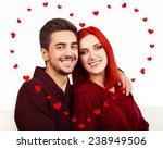 beautiful loving couple kissing ...   Shutterstock . vector #238949506