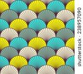 seamless multicolored art deco... | Shutterstock .eps vector #238957090