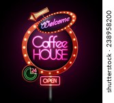 neon sign. coffee house | Shutterstock .eps vector #238958200