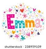 Emma Female Name Decorative...