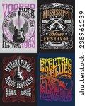 vintage rock poster t shirt... | Shutterstock .eps vector #238961539
