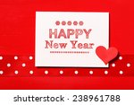 happy new year message with... | Shutterstock . vector #238961788