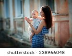 a young beautiful slim woman in ... | Shutterstock . vector #238966048