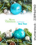 turquoise and silver christmas... | Shutterstock . vector #238966960