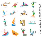 extreme sports icons set with... | Shutterstock .eps vector #238967866